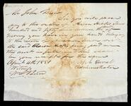 Letter from Joseph Duval to John Drew concerning money owed