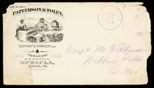 Envelope addressed to Capt. Wm G. Robinson, Webbers Falls, Cherokee Nation