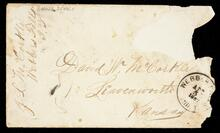 Envelope addressed to David W. McCorkle, Leavenworth, Kansas