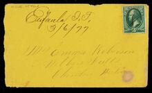 Envelope from H. Lindsey to Emma Roberson [sic] for letter 4026.3546