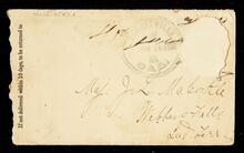Envelope addressed to Maj. J. L. McCorkle