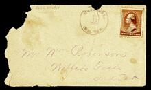 Empty envelope addressed to Mr. Wm. Robinson