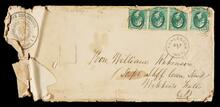 Empty envelope addressed to Hon. William Robinson