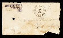 Empty envelope addressed to Mrs. Emma Robinson