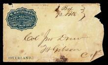 Empty envelope addressed to Colonel John Drew