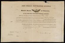 Certificate of John Ross's Appointment as Postmaster of Head of Coosa, Chattooga District