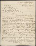 Letter from John Martin, National Treasurer, to Secretary of War