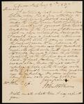 Letter from John Williams to Chief John Ross