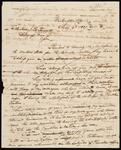 Draft copy of letter from Chief John Ross to Secretary of War Joel R. Poinsett