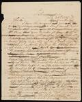 Draft Copy of Letter from Chief John Ross to William Lindsay
