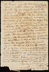 One Sheet of Unidentified Letter in which Chief John Ross Reports on Negotiations with John Mason, Jr.