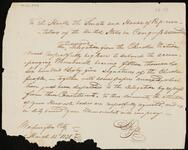 Draft copy of letter from Chief John Ross to Congress