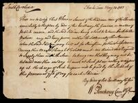 Order by William Pinckney, Governor of South Carolina