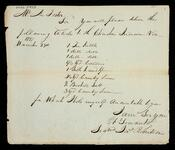 Order by James Robertson to A. Foster for delivery of articles to the Cherokee Indians