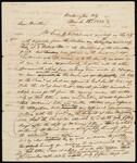 Draft Copy of Letter from Chief John Ross to Lewis Ross
