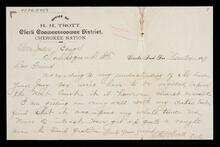 Letter from H. H. Trott to Honorable Judge Benge