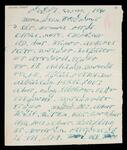 Letter written in the Cherokee syllabary