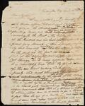 Draft Copy of Letter from Chief John Ross to John M. Ross