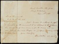 Letter from Stand Watie at Camp McIntosh to Lieutenant Farnsworth
