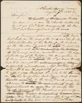 Letter from Chief John Ross to Unnamed Physician