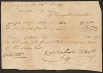 Receipted Invoice from Danforth and Brothers