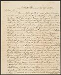 Letter from Chief John Ross to W. P. Rowles