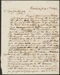 Letter from Chief John Ross to Boat Captain J. W. Hickle