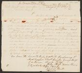 Draft of Letter from George Lowrey and Others to General Arbuckle