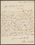 Letter from Elizar Butler to Chief John Ross