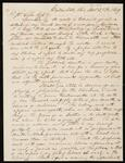 Letter from J. P. Evans to Chief John Ross