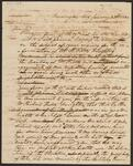 Draft of Letter from Chief John Ross to Elijah Parker
