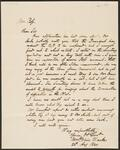 Letter from N. St. Clair Clarke to Chief John Ross