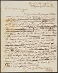 Letter from Chief John Ross to Colonel Thomas C. Hindman