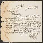 Draft Copy of Letter from Chief John Ross to J. W. Wright, Esquire.