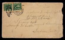 Envelope addressed to Joe M. Ross,  Locust Grove, Indian Territory