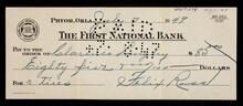 Check to Clarence Langley from Felix Ross