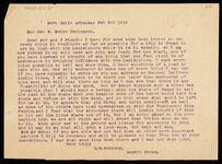 Typed letter from C. G. Matheny to the Honorable George W. Benge, Tahlequah