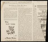 """Newspaper clipping from """"The Christian Science Monitor"""" about Paul Revere's story and the Old North Church"""