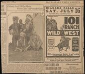 101 Ranch Newspaper Article and Advertisement