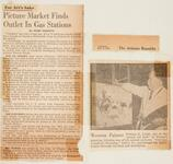 """Newspaper article """"Picture Market Finds Outlet in Gas Stations"""" from """"The Arizona Republic"""""""
