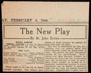 "Newspaper article of theatre critic St. John Ervine's review of the play, ""Hedda Gabler"""