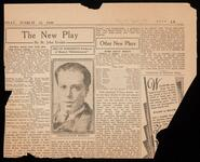 "Newspaper clipping of theatre critic St. John Ervine's review of the plays ""The Black Crook"" and ""Spring is Here"""