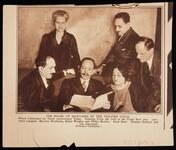 Magazine clipping photograph of the Board of Managers of the Theatre Guild