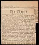Newspaper article by theatre critic St. John Ervine regarding ticket purchases
