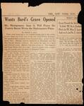 "New York Sun newspaper article, ""Wants Bard's Grave Opened"""