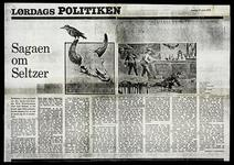 """Photocopy of the newspaper article """"Sagaen on Seltzer"""""""