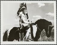 Blue Eagle on horse War Chief