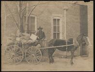 African American Man in a Wagon