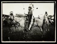Three unidentified Native American men on horses