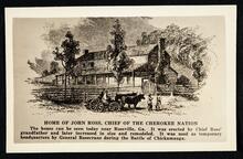 The home of John Ross near Ross's Landing, now Chattanooga, Tennessee